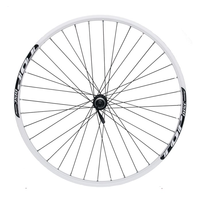 "FRONT WHEEL REMERX TOP DISC 28""  SHIMANO HUB ACERA HB-RM66 / 36 holes White"