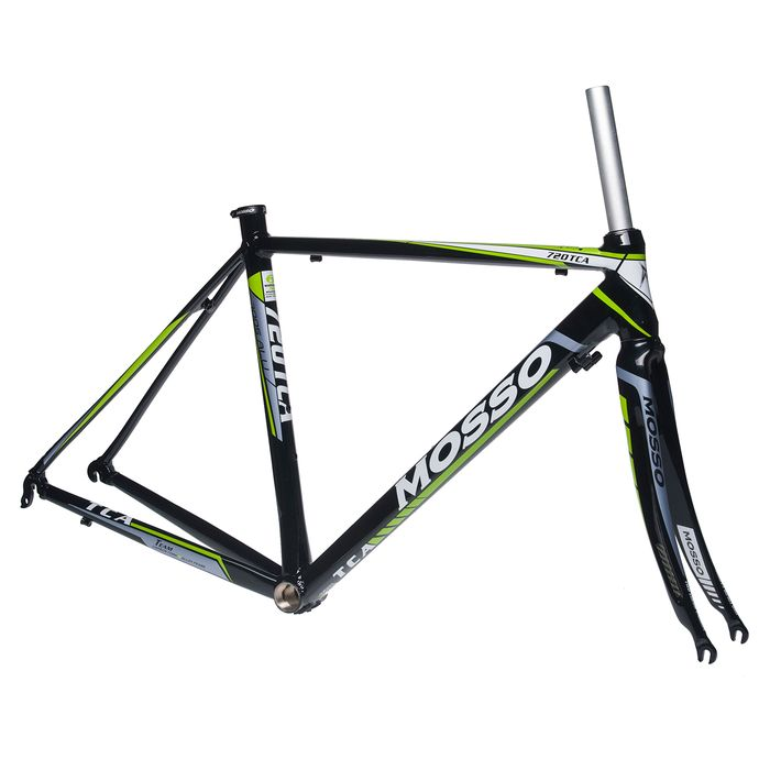 FRAME  ROAD  MOSSO 720TCA with CARBON FORK  Size:480mm   Black / White / Green Line