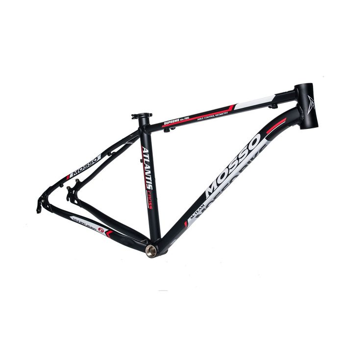 "FRAME CROSS - TREKKING-28"" MOSSO MOD.772TB ""ATLANTIS""  17"" (43cm)  Matt Black/ Matt White/ Red Line"