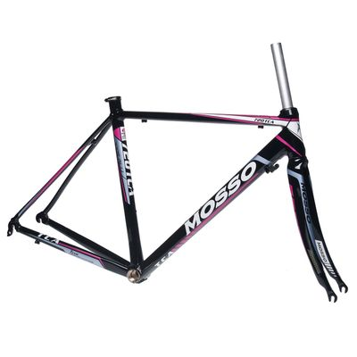 FRAME ROAD  MOSSO 720TCA with CARBON FORK   Size : 510 mm   Black / White / Pink Line