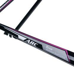 RAMA SZOSOWA MOSSO 710ARC Z WIDELCEM ALUMINIOWYM Rozmiar:550mm Kol.Czarno / szary/ różowa linia.