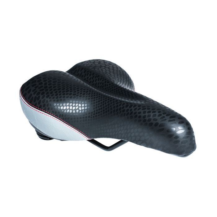 "SADDLE M-WAVE MOD.6709-02 ""UNISEX"" ELASTOMER Black / Silver colour"