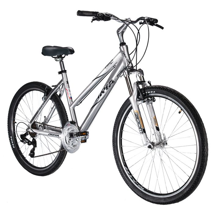BICYCLE MTB, DAMSKI BIRIA -Pro2 SHIMANO TOURNEY / TX -3x7 DUMPER  ZOOM 140 POLISHED ( SCOUTCH BRUSH )