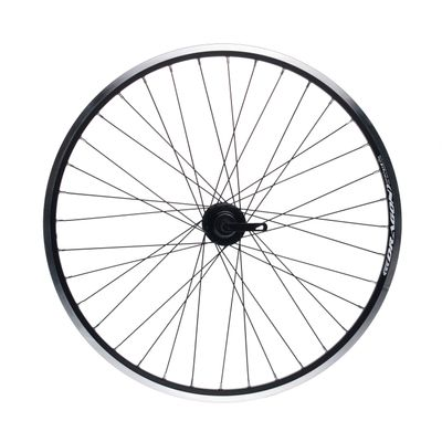"REAR WHEEL REMERX DRAGON 26""HUB JOYTECH FOR FREEWHEEL (6 screws mounting) / 36-holes. Col. Black"