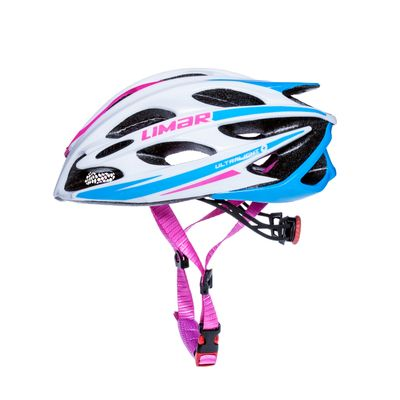 ROAD HELMET LIMAR 104 ULTRALIGHT+ Color: White/ Blue /Pink  - Size: L ( 57-61) cm