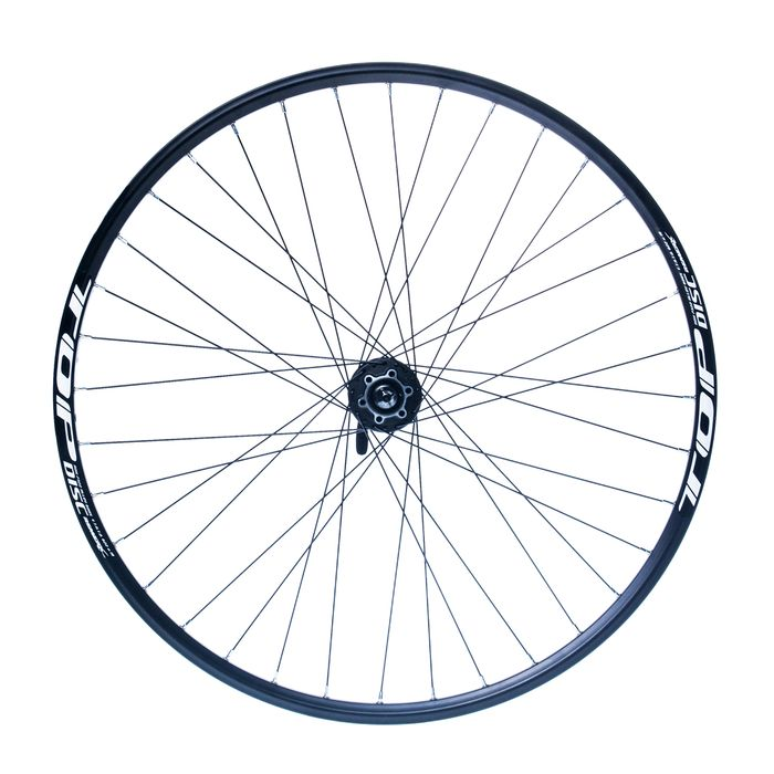 "FRONT WHEEL  REMERX TOP DISC 28"" -29"" HUB  SHIMANO HBM475 (disc mounting 6 screws )  / 36 holes Black colour"