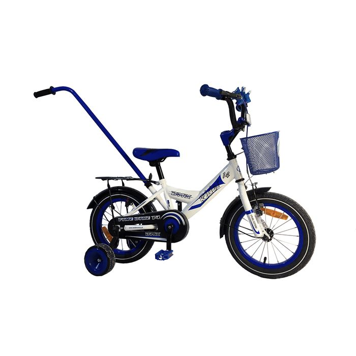 "CHILDREN'S BICYCLE  - 14"" RIDER WHITE / BLUE"