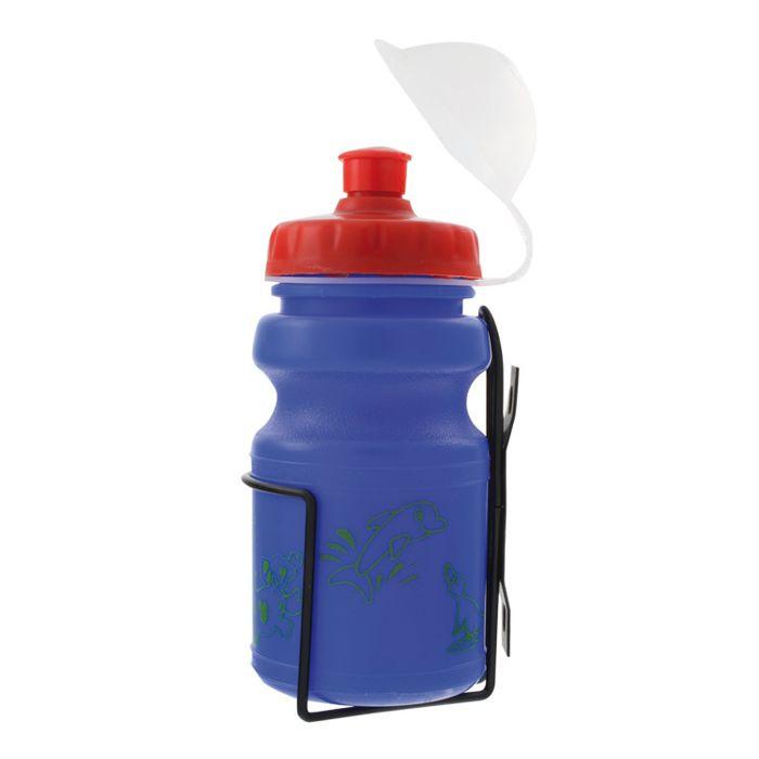 BIDON PLASTIC  + STEEL BASKET  FOR SHILDREN' S BICYCLE 350ml