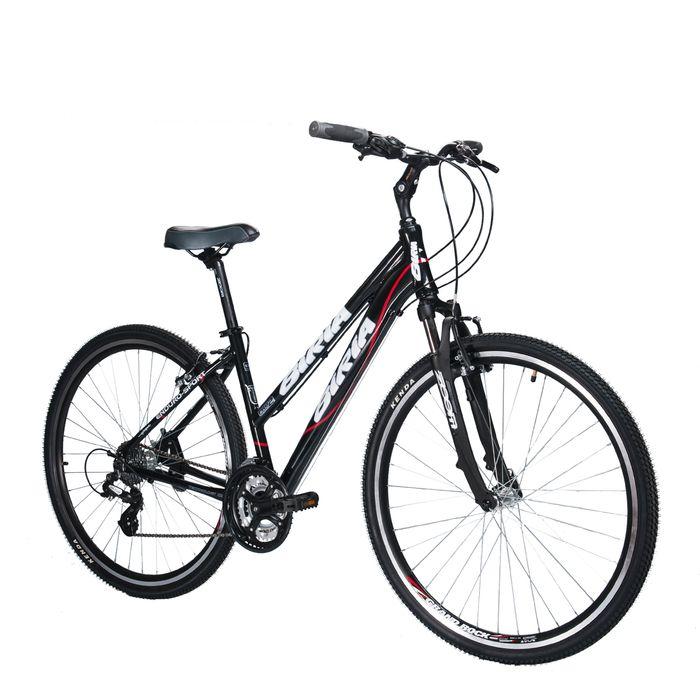 BICYCLE  BIRIA CROSS LADIES  SHIMANO TOURNEY / ACERA -3x7 - ( 21- speeds  Black  /  Red Line
