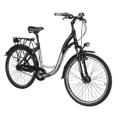 BICYCLE BIRIA CITY- TORPEDO 7 SPEEDS  Black / polished