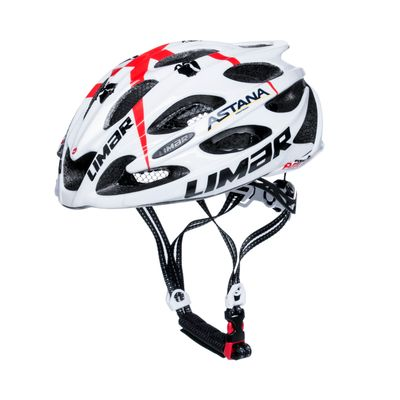 ROAD HELMET LIMAR 104 ULTRALIGHT+ TEAM ASTANA Color : White /Red - Size: M-(53-57 cm)