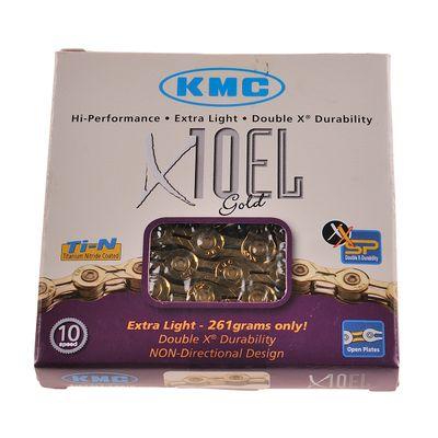 ŁAŃCUCH KMC X-10-EL-GOLD-114 OGNIW-10-BIEGÓW-ZŁOTY
