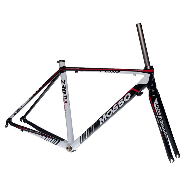 FRAME ROAD MOSSO 730TCA with CARBON FORK   Size: 500mm   Black / White / Red Line