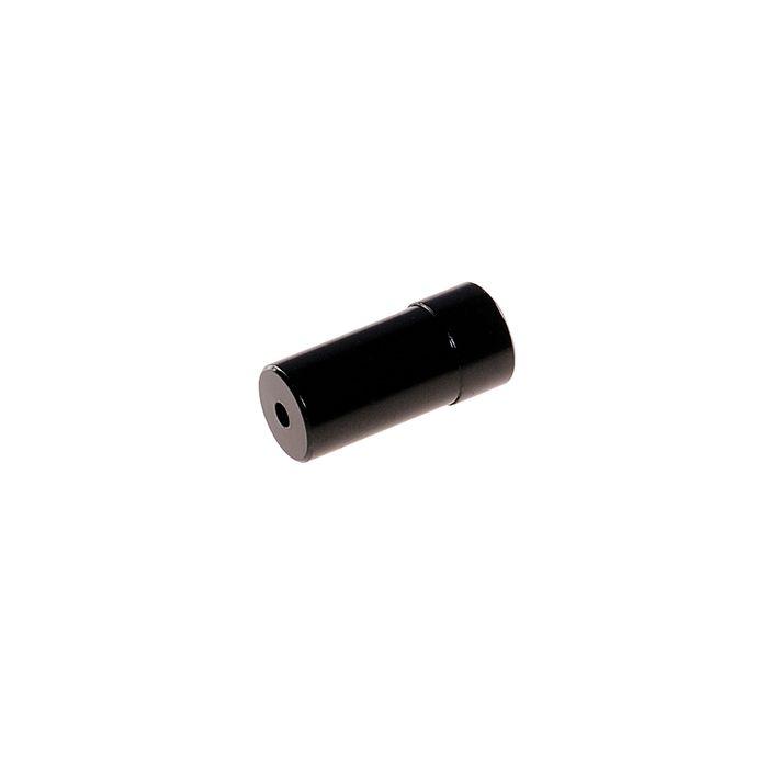 KOŃCÓWKA PANCERZ. PRZERZ ALU-4mm-CZARNA-100 SZT