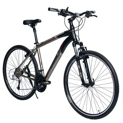 BICYCLE   BIRIA CROSS - ALIVIO/ DEORE 3 x 9 RST NEON RL Matt Graphite / Matt Black