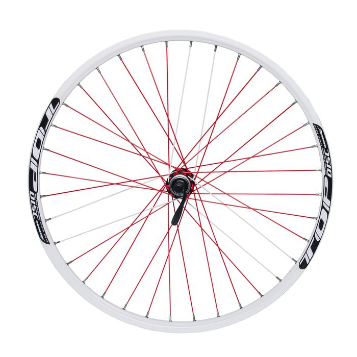 "FRONT WHEEL REMERX TOP DISC 26"" SHIMANO  HUB ACERA HB-RM66 / 36holes White"