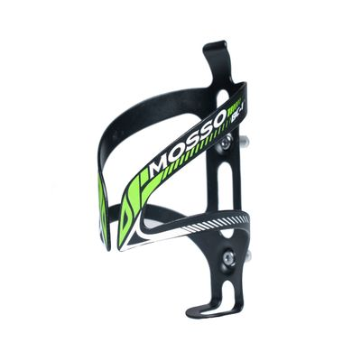 BOTTLE CAGE ALU ULTRA LIGHT MOSSO BC-01 - Black / Green