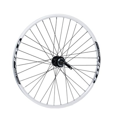"FRONT WHEEL REMERX TOP DISC 27,5""/650B HUB  JOYTECH (Disc mounting  6 screws ) / 36- holes  White colour"