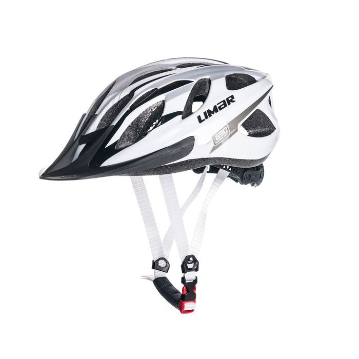 HELMET MTB LIMAR 690 L-(57-62 cm) Superlight with rear  Led WHITE / SILVER