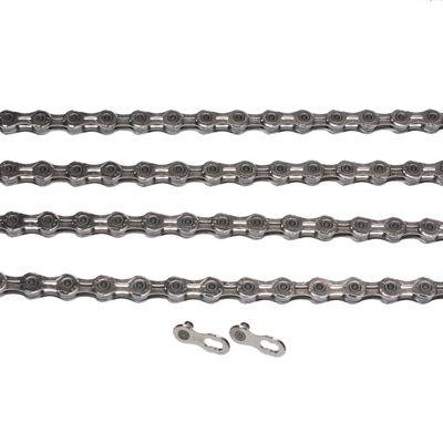 ŁAŃCUCH KMC X10 EL- 118 ogniw / 10-rzędowy+spinka CL-559R - Kol. Srebrny /Pokryty niklem