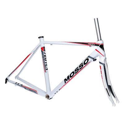 FRAME ROAD MOSSO 720TCA with CARBON FORK   Size:510mm   White / Gray / Red Line