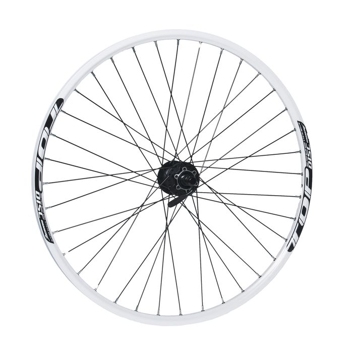 "FRONT WHEEL  REMERX TOP DISC 27,5""/650B HUB  SHIMANO HB-M475 (Discc mounting 6 screws) / 36-holes White colour"