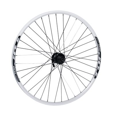 "REAR WHEEL   REMERX TOP DISC 27,5""/650B HUB SHIMANO FH-M475 (disck mounting for 6 screws) / 36-holes white colour"