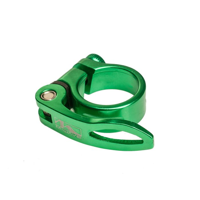 SEAT TUBE  ALUMINUM 'M-WAVE -34,9 mm CLAMP GREEN ANODIZED