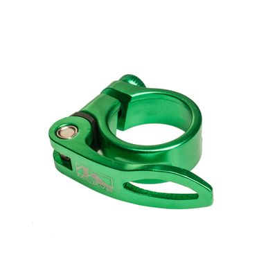 SEAT TUBE  ALUMINUM 'M-WAVE -34,9 mm CLAMP GREEN ANODIZED - Green Anodized