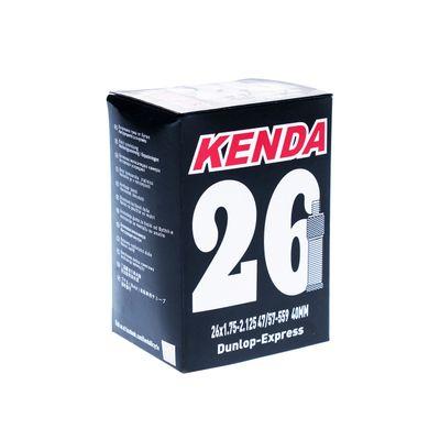 """TUBE  """" KENDA MOLDED 26"""" x 1,75 - 2,125 ( 47/57- 559) VALVE  : """"DV"""" - DUNLOP -40mm"""