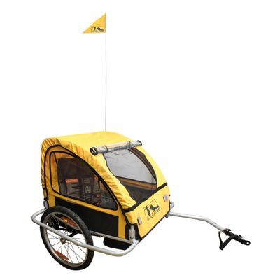 "SUSPENSION ALUMINUM CHILDREN AND LUGGAGE BICYCLE TRAILER  ""KIDS RIDE COMFORT 3 IN 1"""