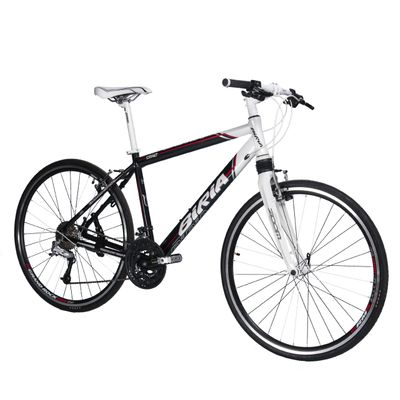 "BICYCLE  28""BIRIA FITNESS-MEN'S -ALIVIO/DEORE -3x9-ALUMINUM FORK ZWITH SUSPENSION  .Black / White"