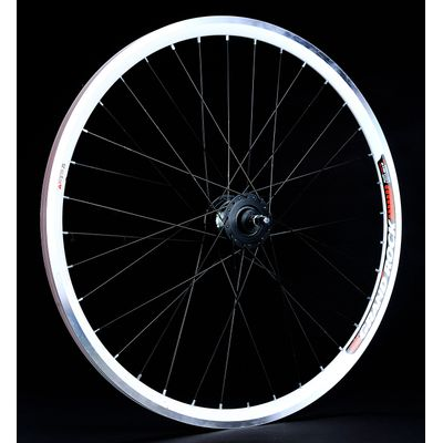 "WHEEL  -28"" FRONT RIM  REMERX GRAND ROCK black colour HUB  SHIMANO-generator 3W/6V"