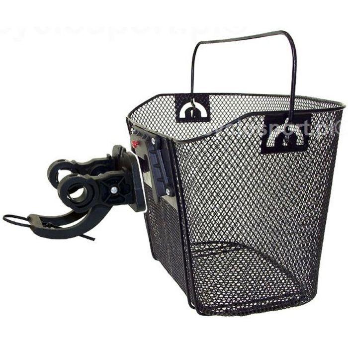 FRONT BASKET  MOUNTED ON HANDLEBAR  ( SYSTEM 'CLIP-ON'  )SIZE. 36x25x22cm BLACK