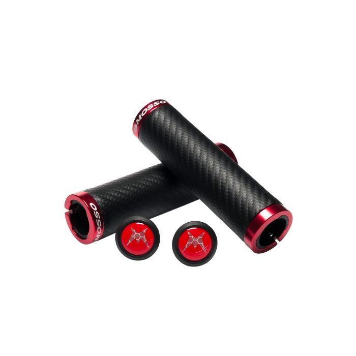 BICYCLE GRIPS MOSSO GP-30CP- Col. Black / Red