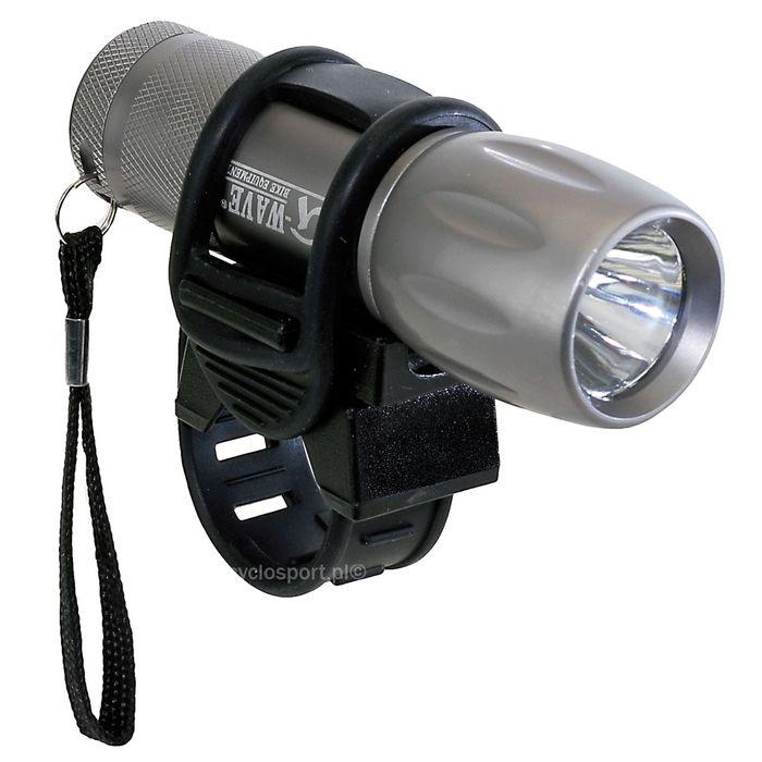 LAMPA BATERYJNA PRZÓD M-WAVE 1- LED BARDZO JASNE ( 1-FUNKCJA) 1 WATT / Z BATERIAMI / NA KIEROWNICĘ OD 22,2 -31,8mm