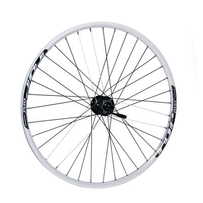 "FRONT WHEEL  REMERX TOP DISC 27,5""/650B HUB SHIMANO HB-M475 (Disc mounting  6 screws ) / 36-holes White colour"
