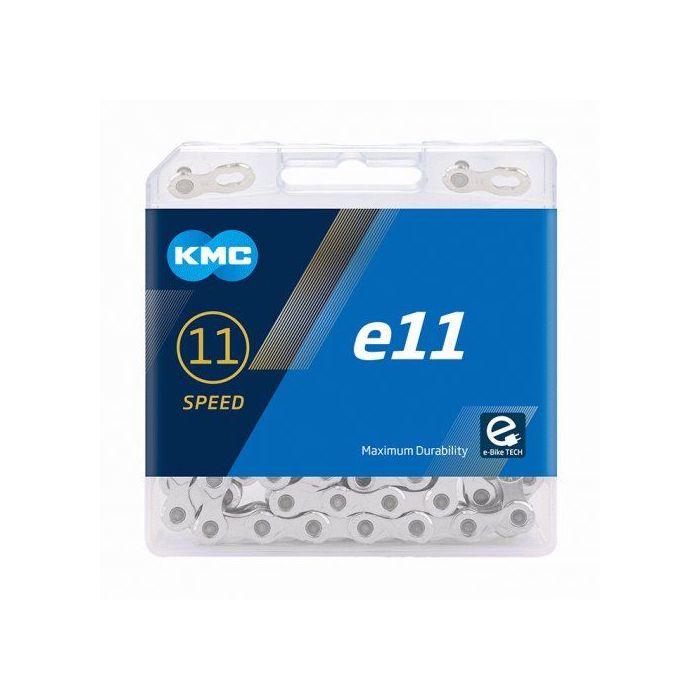 ŁAŃCUCH KMC e-11  SREBRNY -122 OG.11-DO E-BIKES