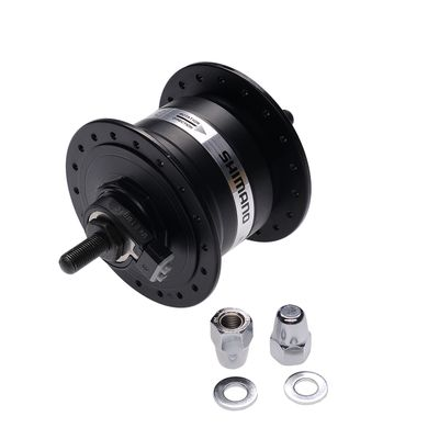FRONT HUB WITH DYNAMO 3W on screw - 36 holes Black