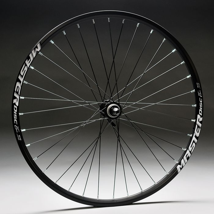 "WHEEL 26""P.DEORE-DISK -BLACK R IM.MASTER DISC-BLACK FRONT"