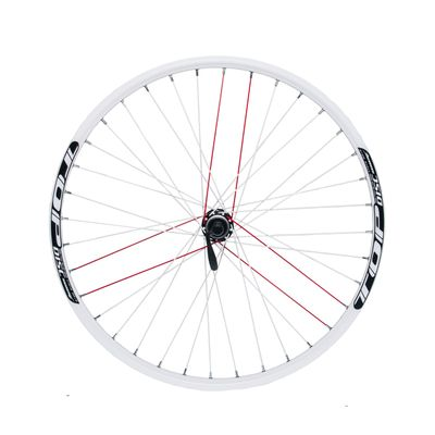"REAR WHEEL REMERX TOP DISC 26""  HUB SHIMANO ACERA FH-RM66 / 36 holes White"