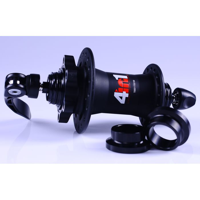 "FRONT HUB  ALU ""NOVATEC"" "" 2+2 in 1"" for DISC BRAKE"