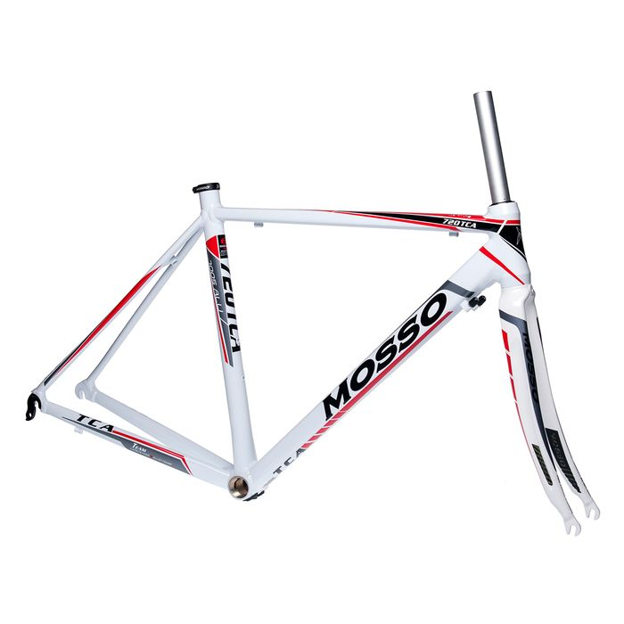FRAME ROAD MOSSO 720TCA with Carbon Fork Size  :480mm White  / Gray / Red Line