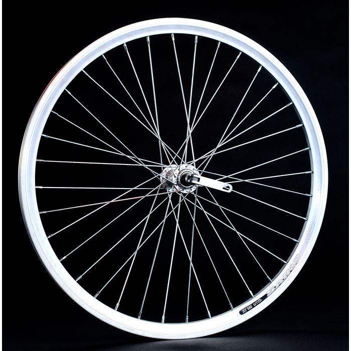 "FRONT WHEEL  -24"" RIM  SAIKO CONICAL mounting for quick release - silver colour"
