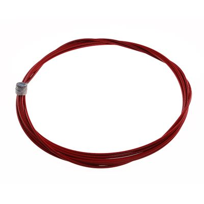 BRAKE CABLE  STAINLESS  NANO -2000mm- RED -1 ITEM  - Red