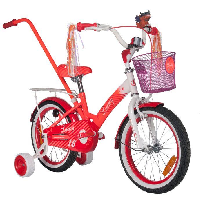 "CHILDREN'S BICYCLE LUCKY 16"" -WHITE-ORANGE"