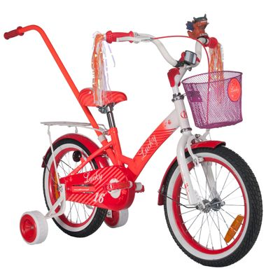 "CHILDREN'S BICYCLE LUCKY 16"" -WHITE-ORANGE"