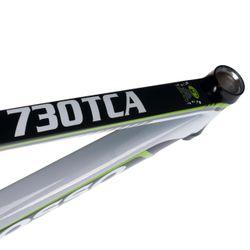 RAMA SZOSOWA MOSSO 730TCA Z WIDELCEM KARBON Rozmiar: 470mm Kol. Czarno /biały / zielona linia.