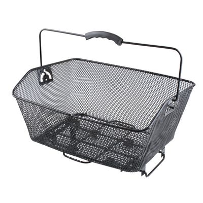REAR WIRE BASKET MOUNTED ON STEEL CARRIER- BLACK