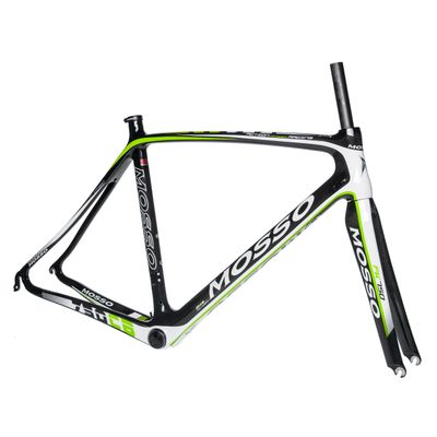 FRAME RACE CARBON MOSSO MOD. 750CB - (540 mm)  Carbon / White / Green Line